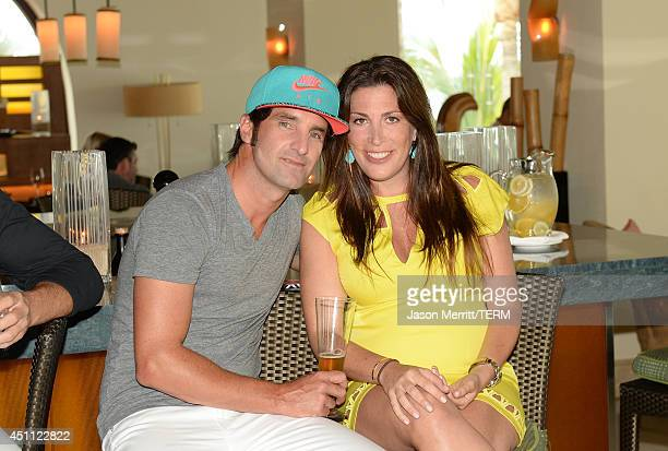 Matt Halliday and Jessica Meisels attend the Oakley Learn To RideSurf in Cabo San Lucas on June 23 2014 in Cabo San Lucas Baja California Sur