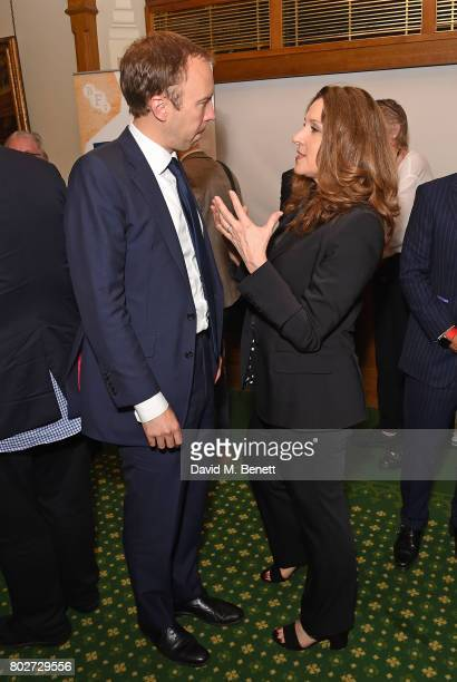 Matt Hancock and Barbara Broccoli attend the BFI's Future Film Skills reception hosted by Sir Kevin Barron MP at the House of Commons on June 28 2017...
