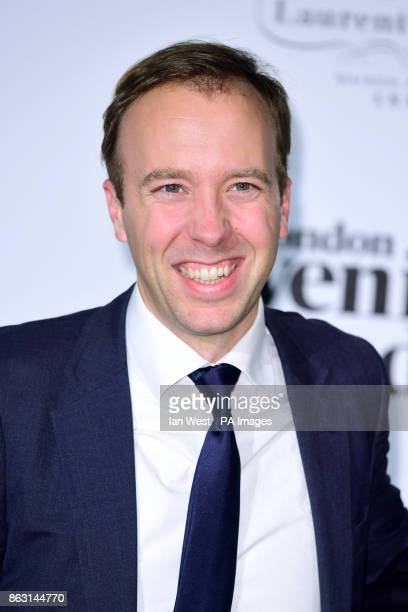Matt Hancock at the London Evening Standard's annual Progress 1000 in partnership with Citi and sponsored by Invisalign UK held in London PRESS...