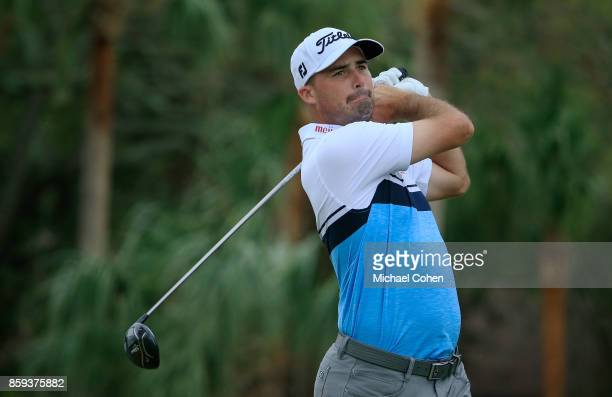 Matt Harmon hits a drive during the third round of the Webcom Tour Championship held at Atlantic Beach Country Club on September 30 2017 in Atlantic...