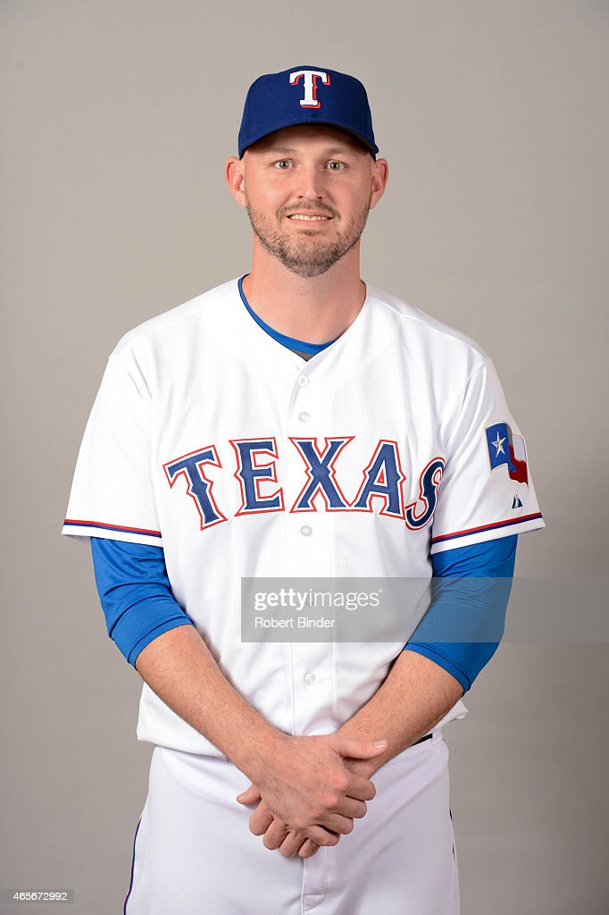 Matt Harrison #54 of the Texas Rangers poses during Photo Day on Monday, March 2, 2015 at Surprise Stadium in Surprise, Arizona.