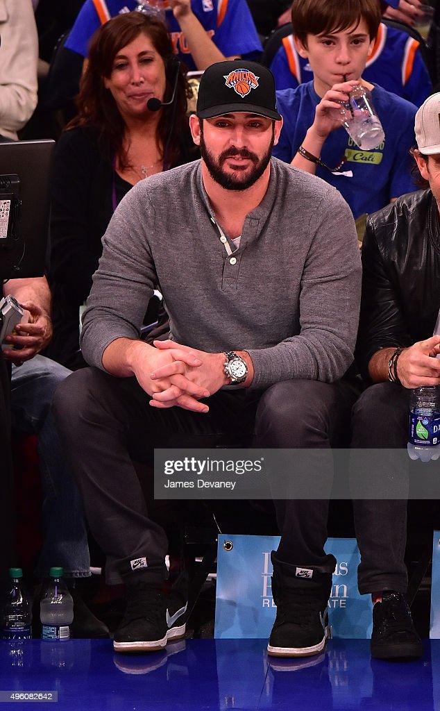 Matt Harvey attends New York Knicks vs Milwaukee Bucks game at Madison Square Garden on November 6, 2015 in New York City.