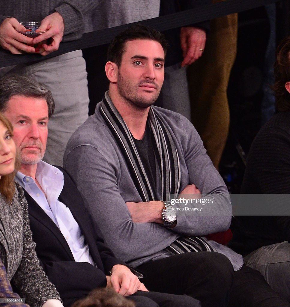 Matt Harvey attends the Indiana Pacers vs New York Knicks game at Madison Square Garden on November 20, 2013 in New York City.
