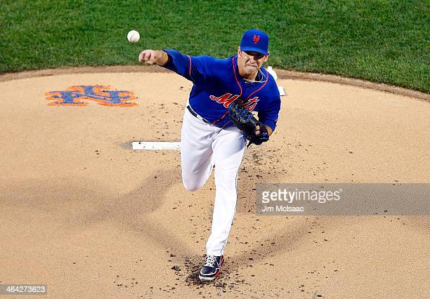 Matt Harvey of the New York Mets in action against the Washington Nationals at Citi Field on June 28 2013 in the Flushing neighborhood of the Queens...