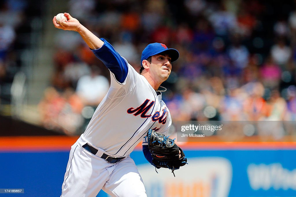 Matt Harvey #33 of the New York Mets pitches against the Philadelphia Phillies at Citi Field on July 21, 2013 in the Flushing neighborhood of the Queens borough of New York City.