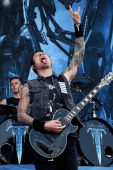 Matt Heafy from Trivium performs at Columbus Crew Stadium on May 18 2014 in Columbus Ohio