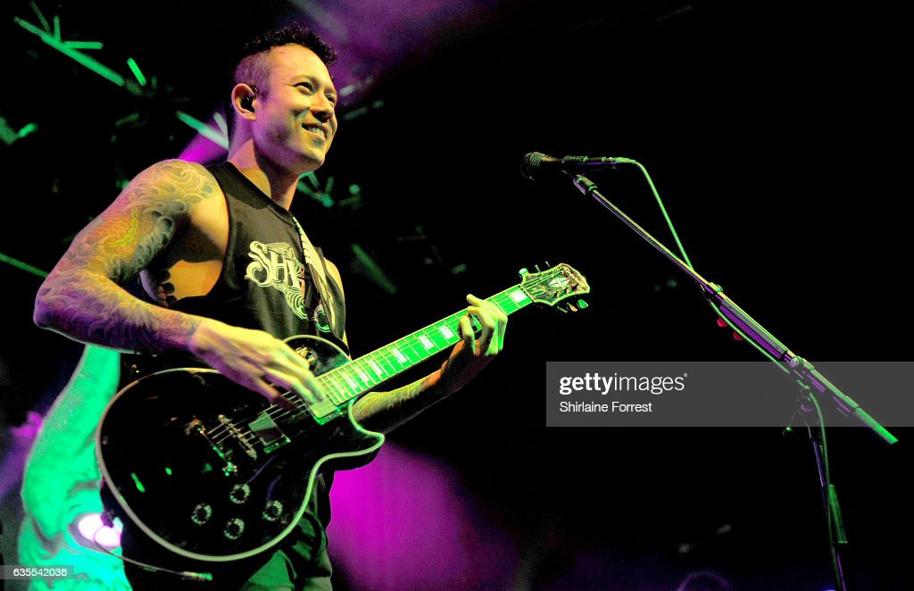 Matt Heafy of Trivium performs at Manchester Academy on February 15, 2017 in Manchester, United Kingdom.