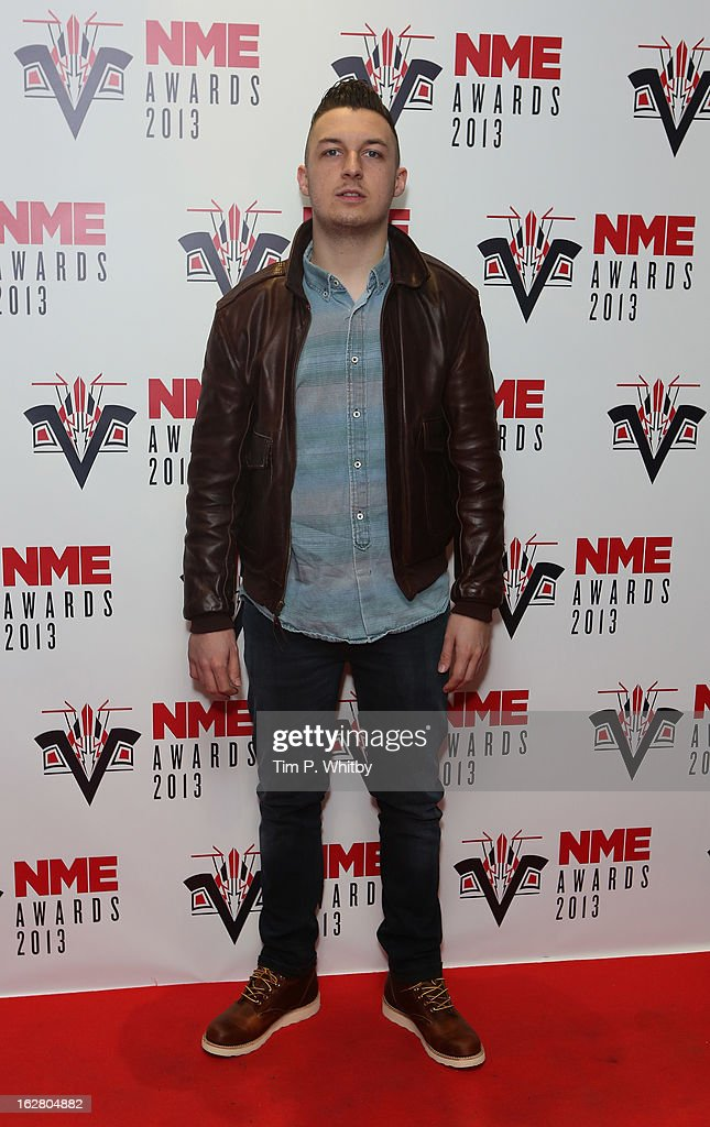 <a gi-track='captionPersonalityLinkClicked' href=/galleries/search?phrase=Matt+Helders&family=editorial&specificpeople=802484 ng-click='$event.stopPropagation()'>Matt Helders</a> of the Arctic Monkeys attends the NME Awards 2013 at the Troxy on February 27, 2013 in London, England.