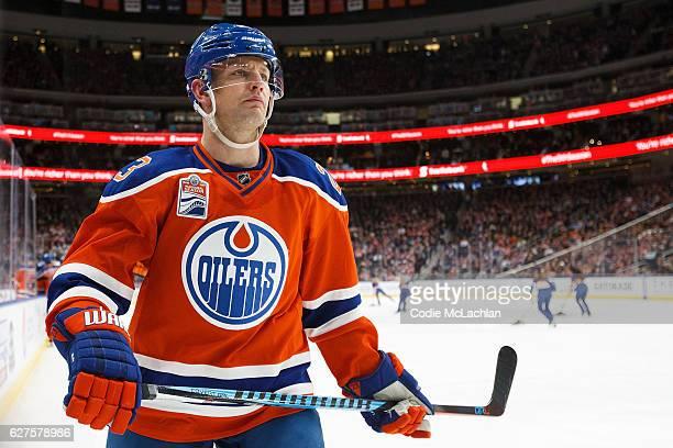 Matt Hendricks of the Edmonton Oilers skates against the Toronto Maple Leafs on November 29 2016 at Rogers Place in Edmonton Alberta Canada