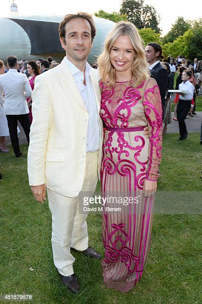 Matt Hermer and Marissa Hermer attend The Serpentine Gallery Summer Party cohosted by Brioni at The Serpentine Gallery on July 1 2014 in London...