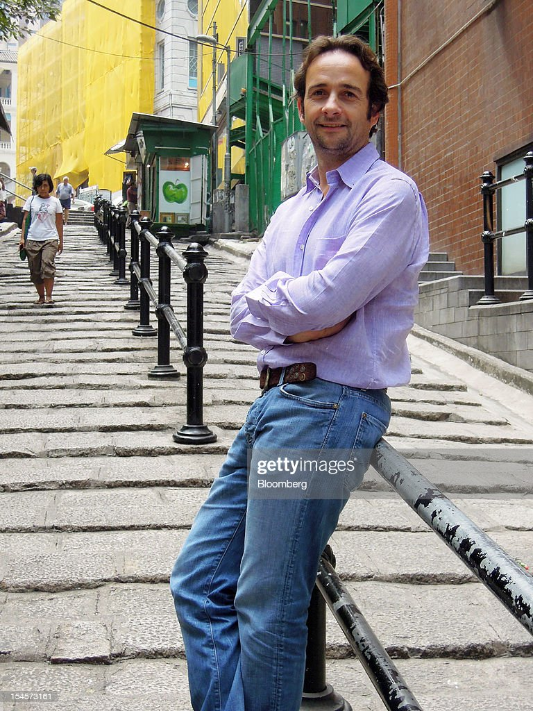 Matt Hermer, chief executive officer of Ignite Group, stands for a photograph on Pottinger Street outside of Boujis in Hong Kong, China, on Friday, Oct. 19, 2012. Boujis is a members-only nightclub. Photographer: Frederik Balfour/Bloomberg via Getty Images