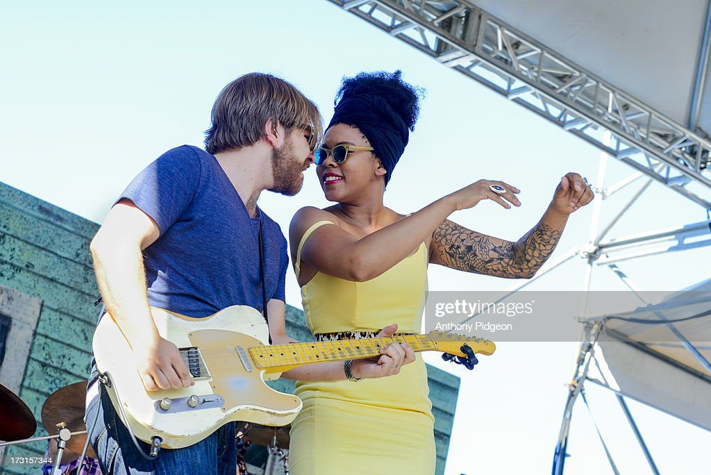 Matt Hill and Nikki Hill performs on stage on Day 4 of Waterfront Blues Festival at Tom McCall Waterfront Park on July 7, 2013 in Portland, Oregon.