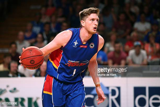 Matt Hodgson of the Adelaide 36ers brings the ball forward during the round nine NBL match between the Adelaide 36ers and the Perth Wildcats at...