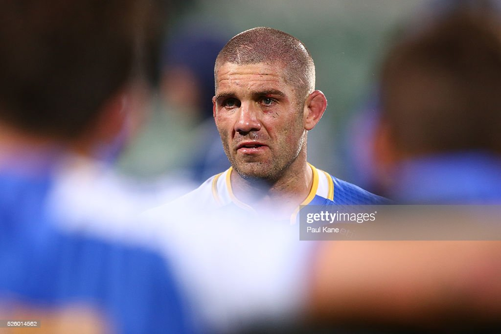 Matt Hodgson of the Force addresses his players after being defeated during the round 10 Super Rugby match between the Force and the Bulls at nib Stadium on April 29, 2016 in Perth, Australia.