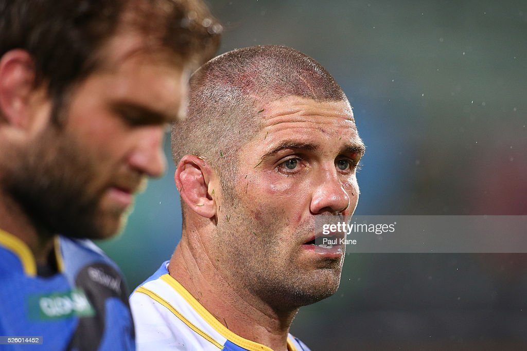 Matt Hodgson of the Force looks on after being defeated during the round 10 Super Rugby match between the Force and the Bulls at nib Stadium on April 29, 2016 in Perth, Australia.