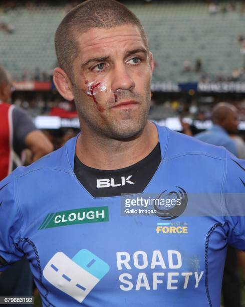 Matt Hodgson of Western Force during the Super Rugby match between Cell C Sharks and Force at Growthpoint Kings Park on May 06 2017 in Durban South...