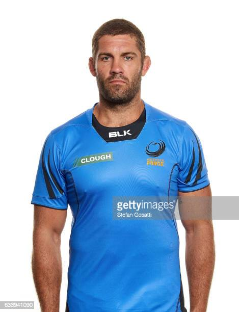 Matt Hodgson poses during the Western Force Super Rugby headshots session on January 20 2017 in Perth Australia