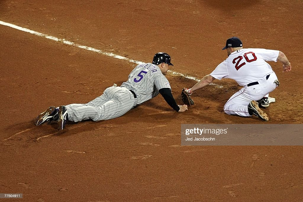 Image result for matt holliday picked off by jonathan papelbon