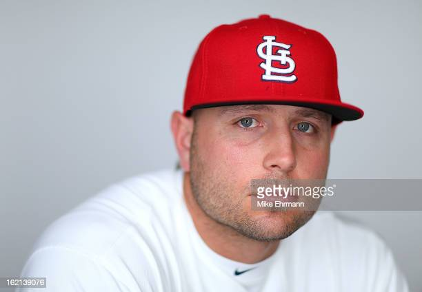 Matt Holliday of the St Louis Cardinals poses during photo day at Roger Dean Stadium on February 19 2013 in Jupiter Florida