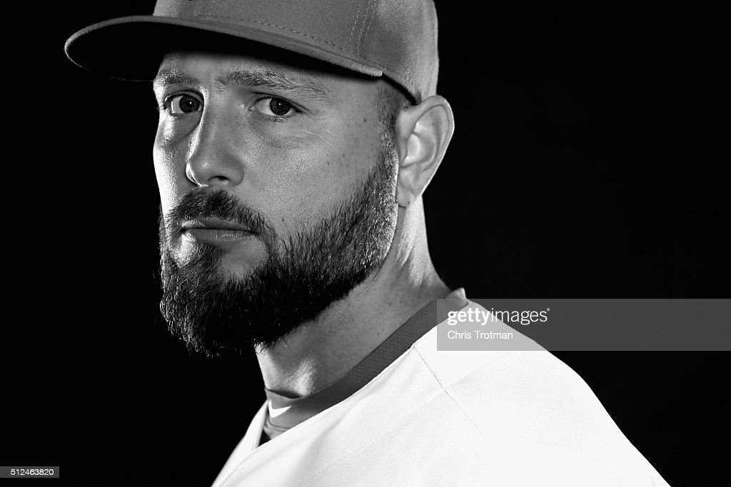 Matt Holliday #7 of the St. Louis Cardinals poses for a photograph at Spring Training photo day at Roger Dean Stadium on February 25, 2016 in Jupiter, Florida.
