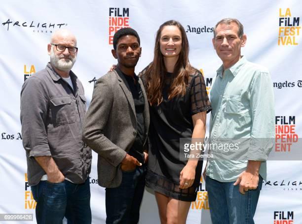 Matt Holzman Shofela Coker Katherine Fairfax Wright and Paul Federbush attend the Awards Ceremony during the 2017 Los Angeles Film Festival at the...