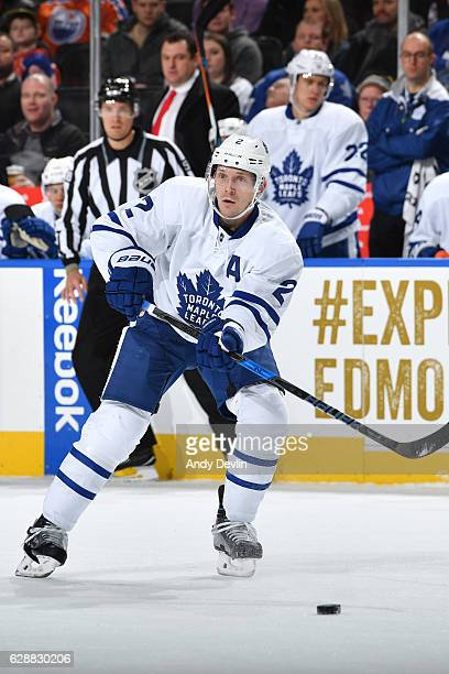 Matt Hunwick of the Toronto Maple Leafs skates during the game against the Edmonton Oilers on November 29 2016 at Rogers Place in Edmonton Alberta...
