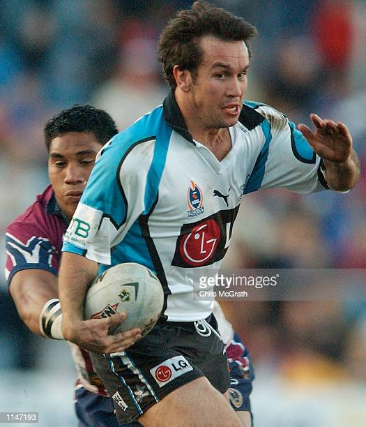 Matt Johns of the Sharks in action during the Round 19 NRL match between the Northern Eagles and the Cronulla Sharks held at Brookvale Oval Sydney...