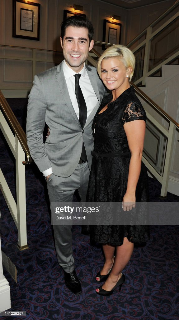 Matt Johnson (L) and <a gi-track='captionPersonalityLinkClicked' href=/galleries/search?phrase=Kerry+Katona&family=editorial&specificpeople=209396 ng-click='$event.stopPropagation()'>Kerry Katona</a> arrive at the TRIC Television and Radio Industries Club Awards at The Grosvenor House Hotel on March 13, 2012 in London, England.