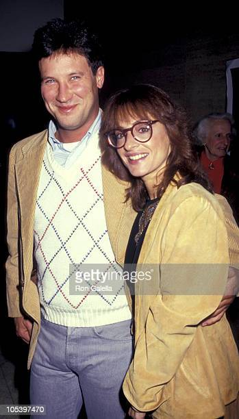 Matt Johnson and Patti LuPone during LBJ Party January 281987 at Bruno Walters Auditorium in New York City New York United States
