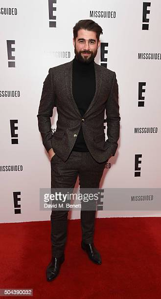 Matt Johnson attends E's Live From The Red Carpet Golden Globes Watch Along Party held at St Martin's Lane Hotel on January 10 2016 in London England