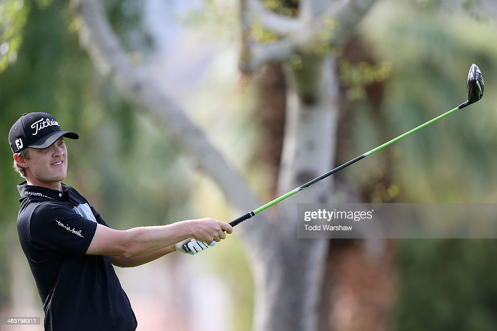 Matt Jones of Australia hits a tee shot on the second hole during the final round of the Humana Challenge in partnership with the Clinton Foundation...