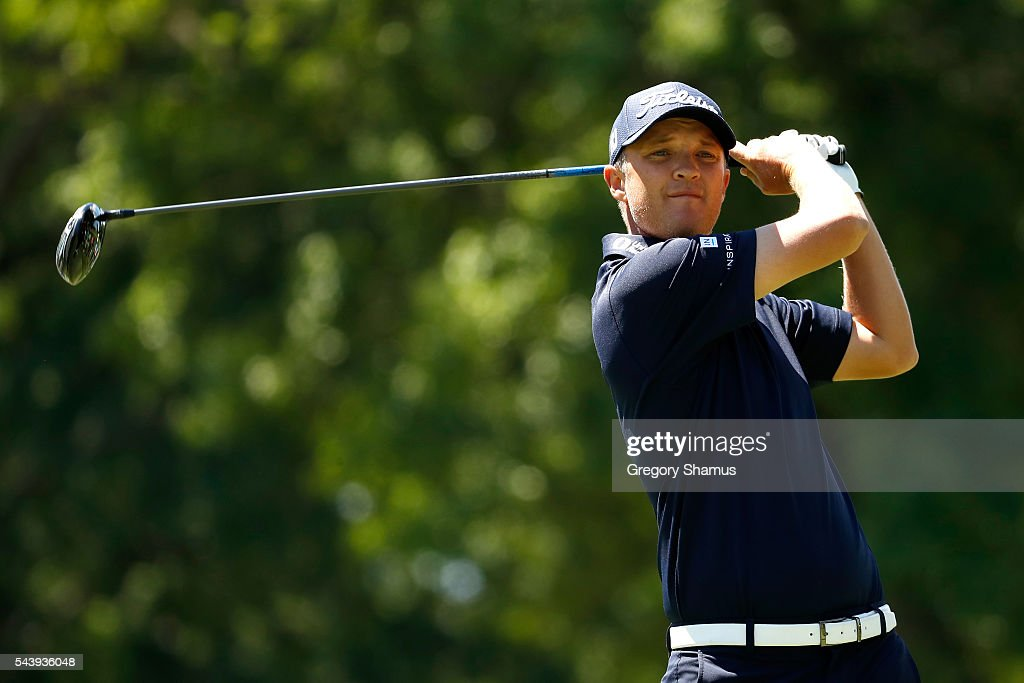 <a gi-track='captionPersonalityLinkClicked' href=/galleries/search?phrase=Matt+Jones+-+Golfer&family=editorial&specificpeople=5003125 ng-click='$event.stopPropagation()'>Matt Jones</a> of Australia hits off the third tee during the first round of the World Golf Championships - Bridgestone Invitational at Firestone Country Club South Course on June 30, 2016 in Akron, Ohio.