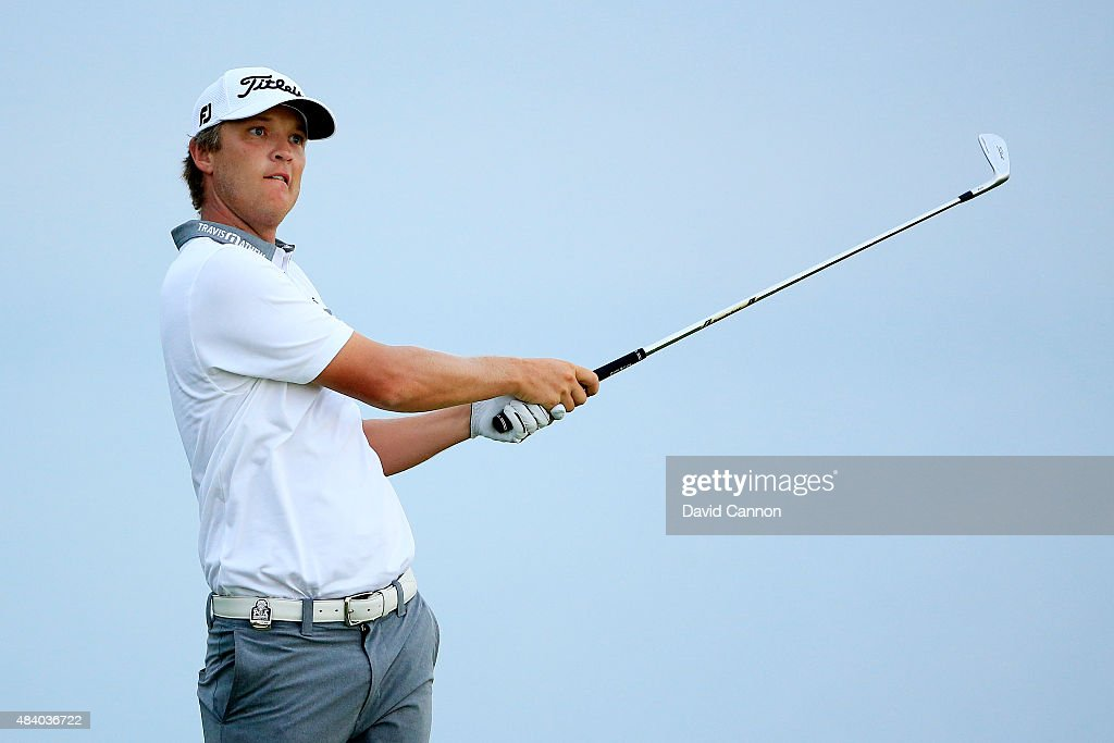 Matt Jones of Australia plays his shot from the third tee during the second round of the 2015 PGA Championship at Whistling Straits on August 14, 2015 in Sheboygan, Wisconsin.