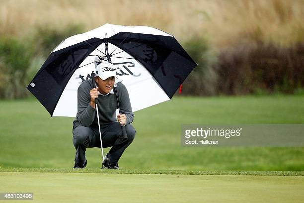 Matt Jones of Australia waits on the 12th green during the final round of the Shell Houston Open at the Golf Club of Houston on April 6 2014 in...