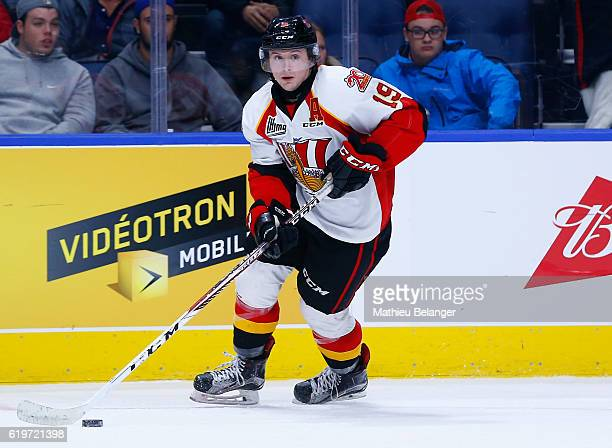 Matt Jones of the Baie Comeau Drakkar skates against the Quebec Remparts during their QMJHL hockey game at the Centre Videotron on October 14 2016 in...