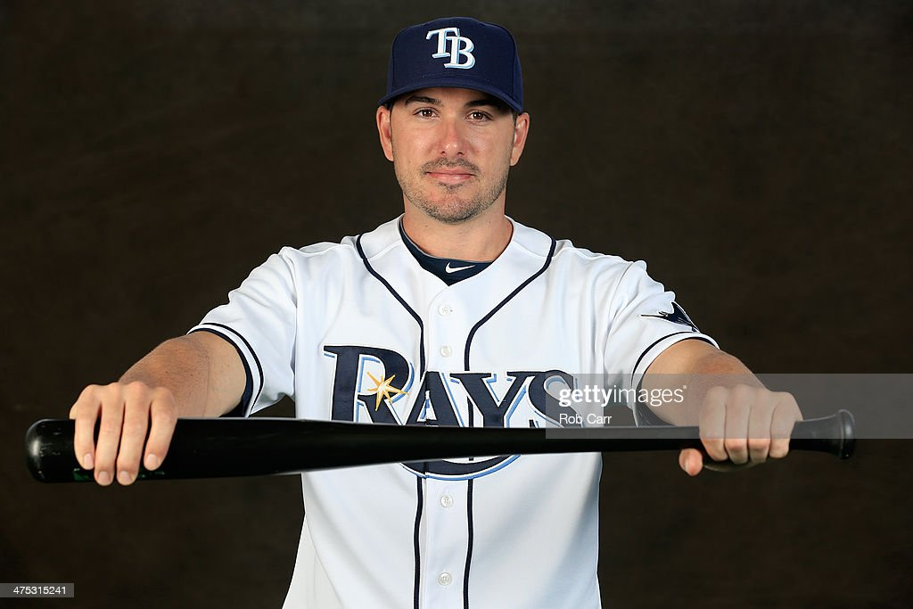 Matt Joyce #20 of the Tampa Bay Rays poses for a portrait at Charlotte Sports Park during photo day on February 26, 2014 in Port Charlotte, Florida.