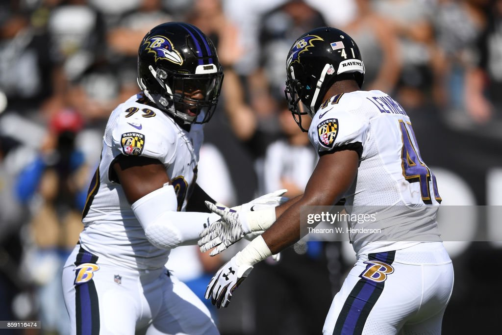 cc159f719 ... Matt Judon 99 and Anthony Levine 41 of the Baltimore Ravens celebrate  after ...