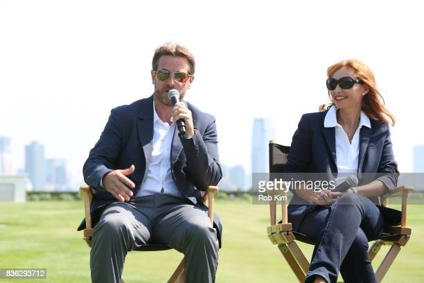 Matt Kamienski Presidents Cup tournament director and Joelle Grunberg LACOSTE CEO attend LACOSTE 'Official Apparel Provider' unveiling during 2017...