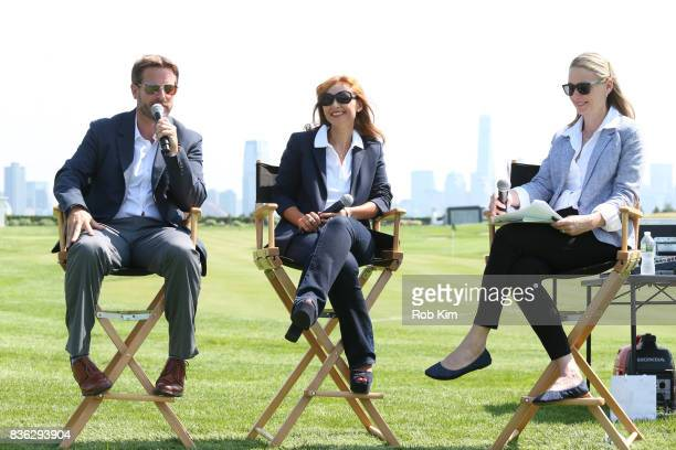 Matt Kamienski Presidents Cup tournament director Joelle Grunberg LACOSTE CEO and moderator Laura Neal attend LACOSTE 'Official Apparel Provider'...