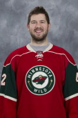 Matt Kassian of the Minnesota Wild poses for his official headshot for the 20122013 season at the Xcel Energy Center on January 12 2013 in Saint Paul...