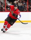 Matt Kassian of the Ottawa Senators skates against the Carolina Hurricanes at Canadian Tire Centre on March 31 2014 in Ottawa Ontario Canada