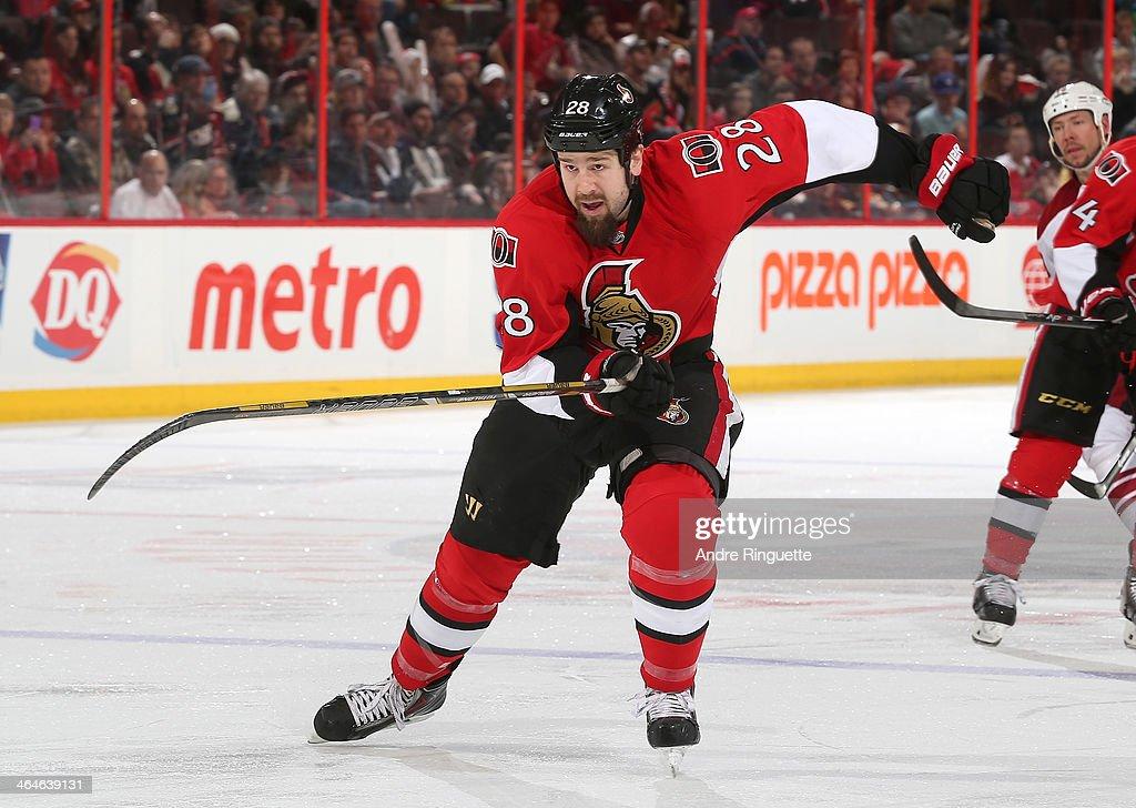 Matt Kassian of the Ottawa Senators skates against the Phoenix Coyotes at Canadian Tire Centre on December 21 2013 in Ottawa Ontario Canada