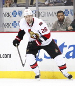 Matt Kassian of the Ottawa Senators skates against the Pittsburgh Penguins in Game One of the Eastern Conference Semifinals during the 2013 NHL...
