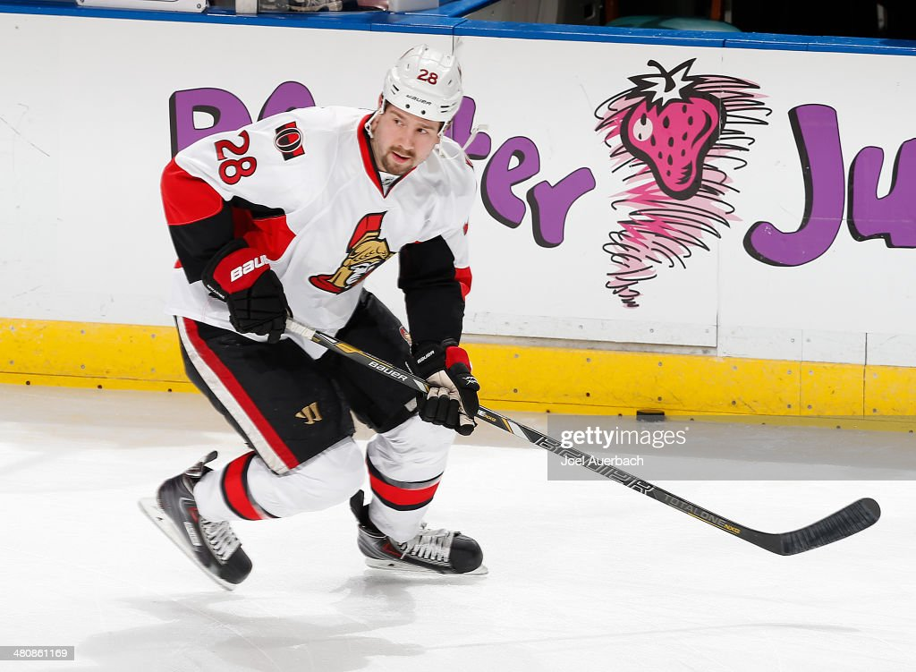 Matt Kassian of the Ottawa Senators skates prior to the game against the Florida Panthers at the BBT Center on March 25 2014 in Sunrise Florida The...