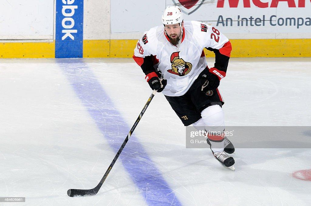 Matt Kassian of the Ottawa Senators warms up before the game against the Washington Capitals at Verizon Center on January 21 2014 in Washington DC