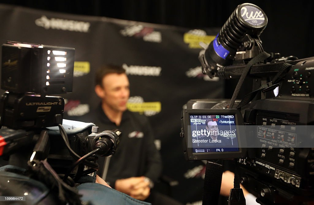 <a gi-track='captionPersonalityLinkClicked' href=/galleries/search?phrase=Matt+Kenseth&family=editorial&specificpeople=204192 ng-click='$event.stopPropagation()'>Matt Kenseth</a>, driver for Joe Gibbs Racing, speaks to the media during the 2013 NASCAR Sprint Media Tour on January 24, 2013 in Concord, North Carolina.