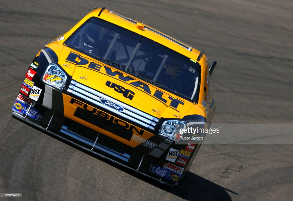 Matt Kenseth driver of the DeWalt Ford drives during practice for the NASCAR Nextel Cup Series Subway Fresh Fit 500 at Phoenix International Raceway...