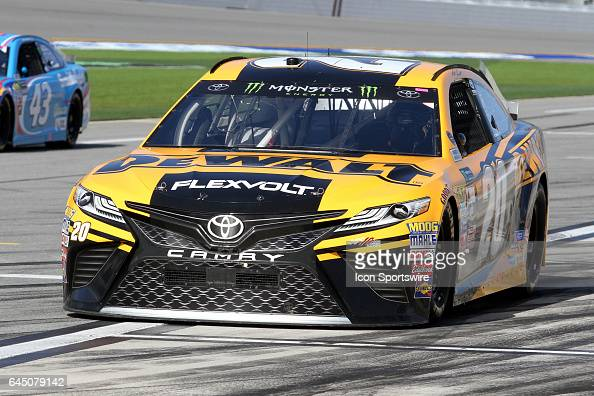 Matt Kenseth driver of the Dewalt Toyota during practice for the NASCAR Monster Energy Cup Series Daytona 500 on February 24 at the Daytona...