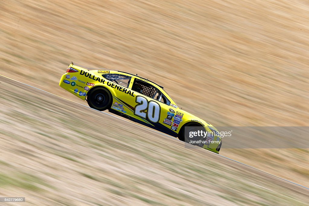 <a gi-track='captionPersonalityLinkClicked' href=/galleries/search?phrase=Matt+Kenseth&family=editorial&specificpeople=204192 ng-click='$event.stopPropagation()'>Matt Kenseth</a>, driver of the #20 Dollar General Toyota, drives during practice for the NASCAR Sprint Cup Series Toyota/Save Mart 350 at Sonoma Raceway on June 24, 2016 in Sonoma, California.
