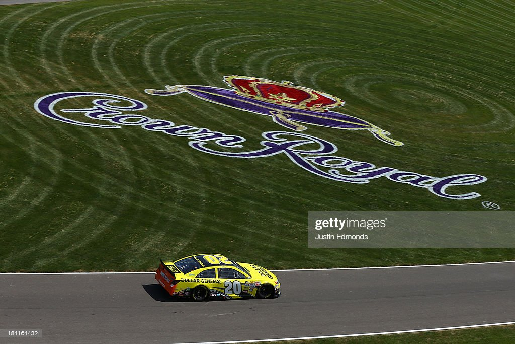 <a gi-track='captionPersonalityLinkClicked' href=/galleries/search?phrase=Matt+Kenseth&family=editorial&specificpeople=204192 ng-click='$event.stopPropagation()'>Matt Kenseth</a>, driver of the #20 Dollar General Toyota, during practice for the NASCAR Sprint Cup Series Samuel Deeds 400 At The Brickyard at Indianapolis Motor Speedway on July 26, 2013 in Indianapolis, Indiana.